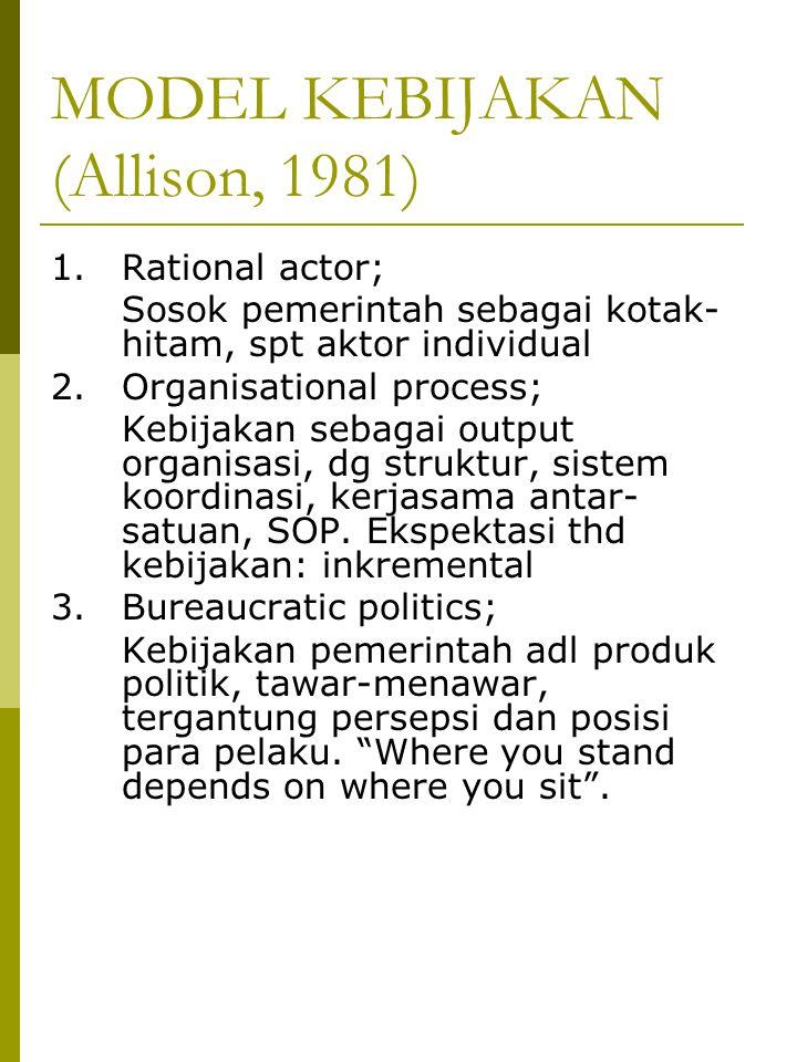 MODEL KEBIJAKAN (Allison, 1981)