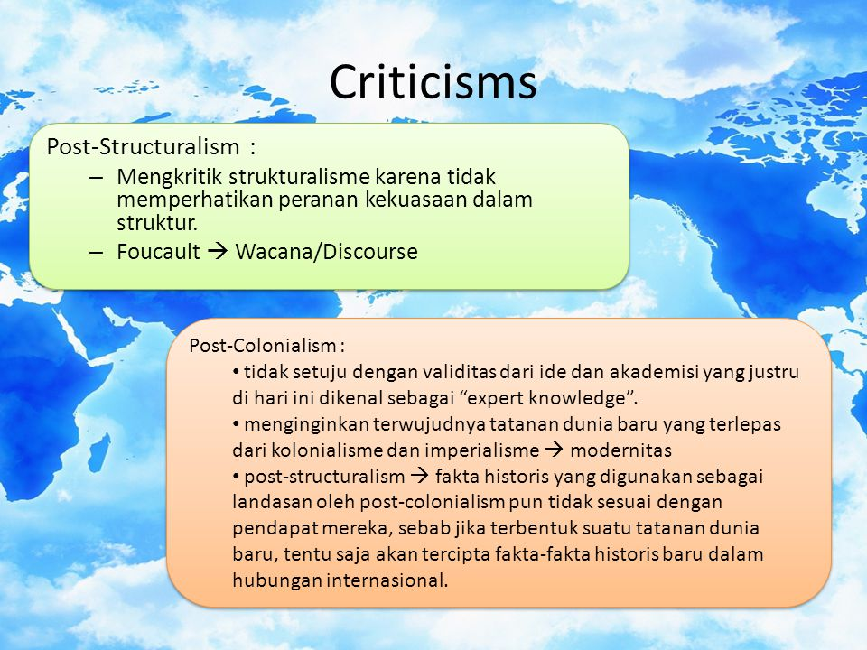 Criticisms Post-Structuralism :