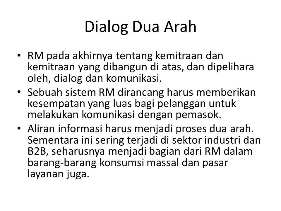 Dialog Dua Arah RM pada akhirnya tentang kemitraan dan kemitraan yang dibangun di atas, dan dipelihara oleh, dialog dan komunikasi.