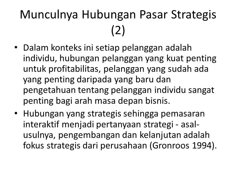Munculnya Hubungan Pasar Strategis (2)