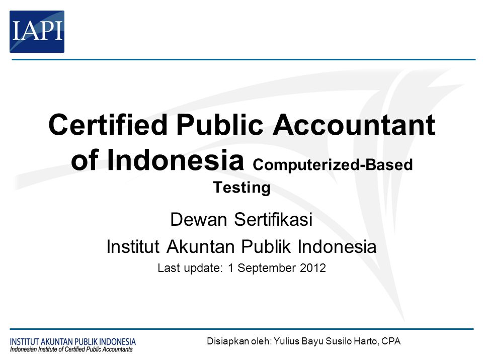 Sekilas Tentang CBT CPA of Indonesia (1/2)