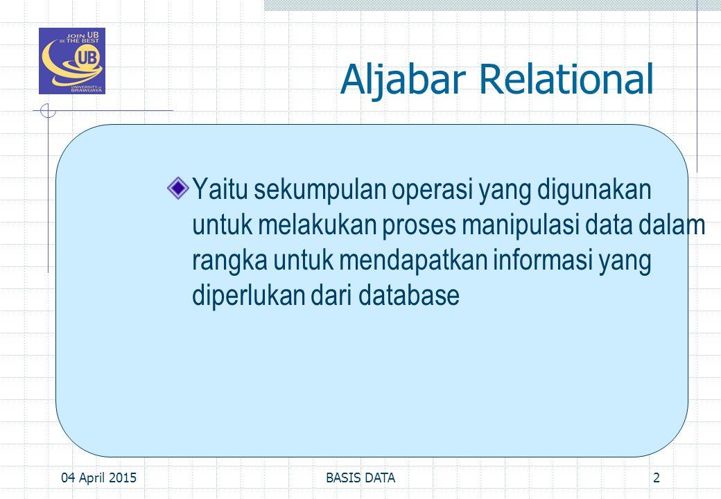 Aljabar Relational