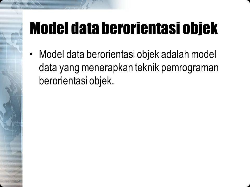 Model data berorientasi objek