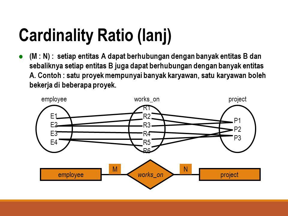 Cardinality Ratio (lanj)