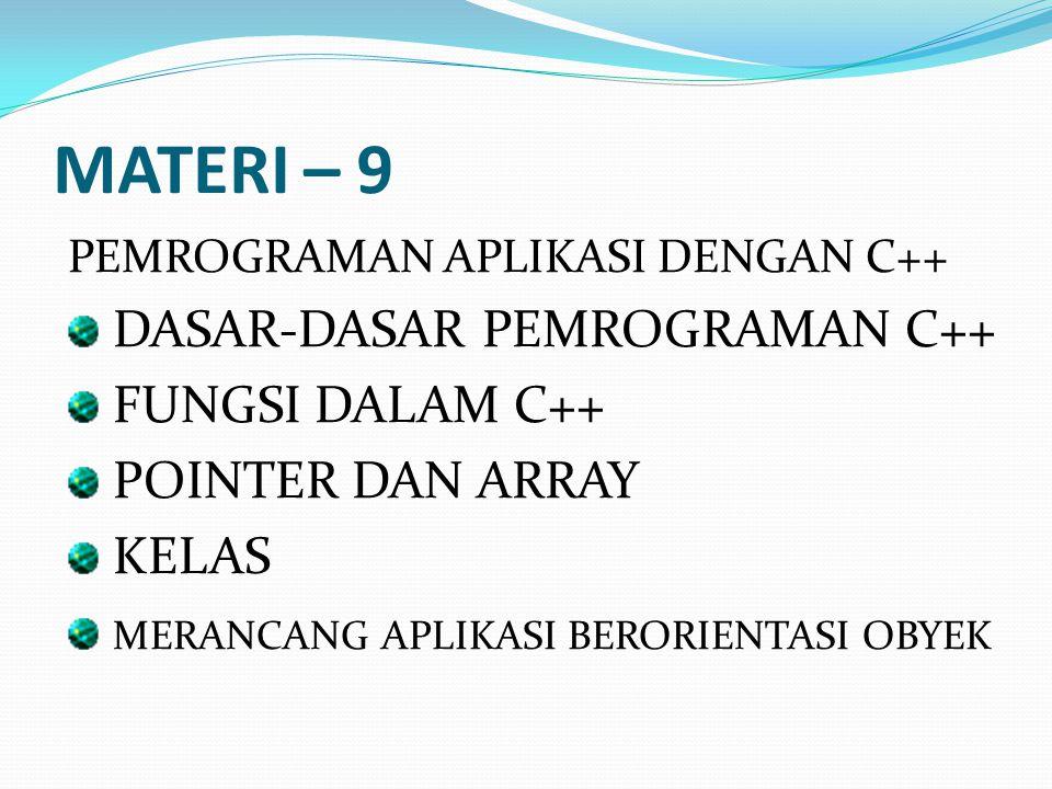 MATERI – 9 DASAR-DASAR PEMROGRAMAN C++ FUNGSI DALAM C++