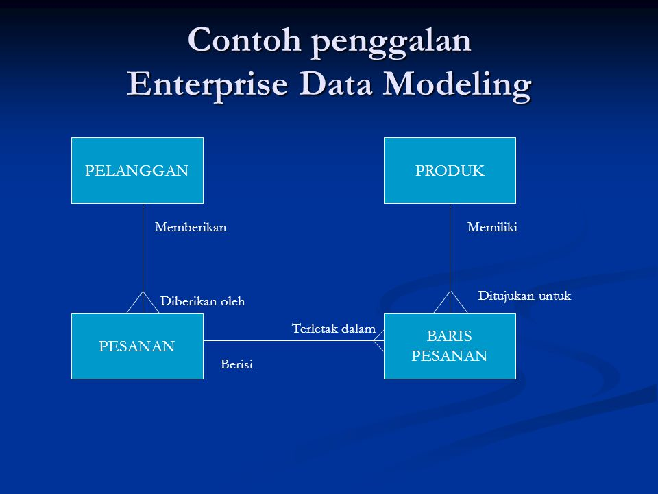 Contoh penggalan Enterprise Data Modeling
