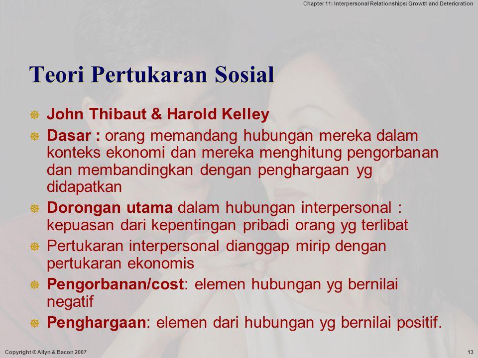 Teori Pertukaran Sosial