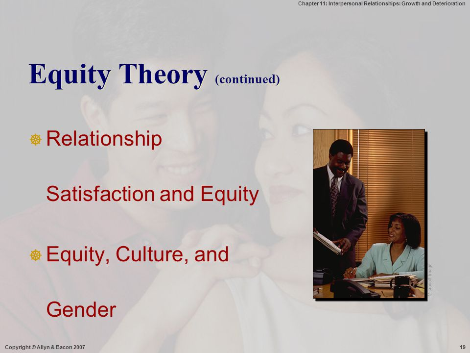 Equity Theory (continued)