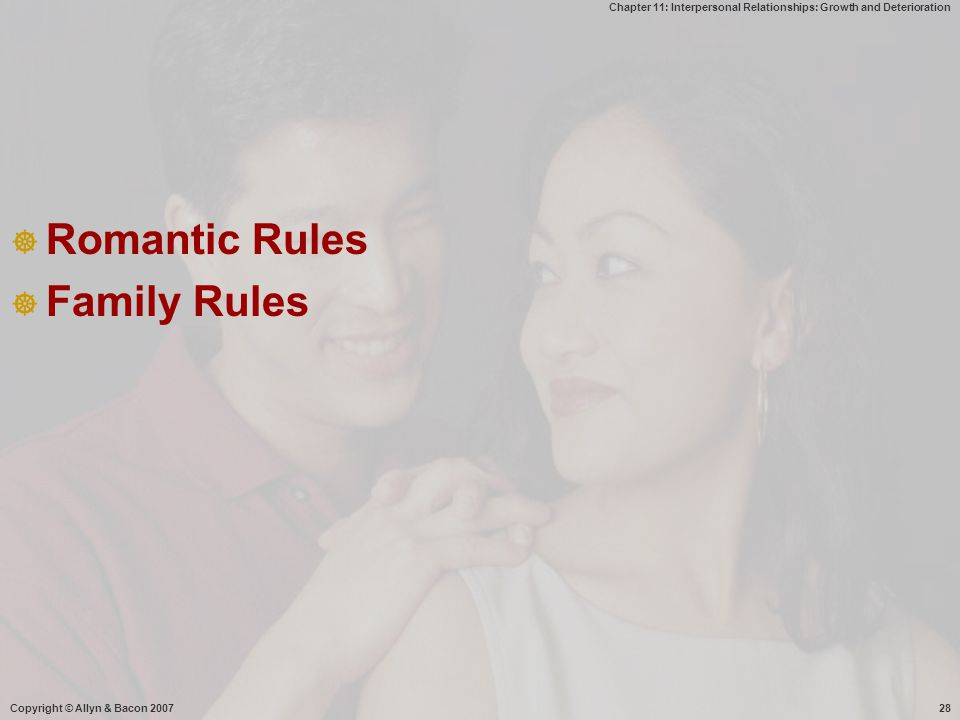 Romantic Rules Family Rules Copyright © Allyn & Bacon 2007