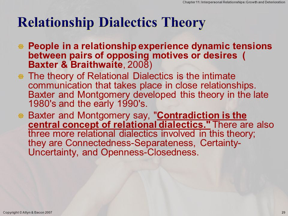 Relationship Dialectics Theory