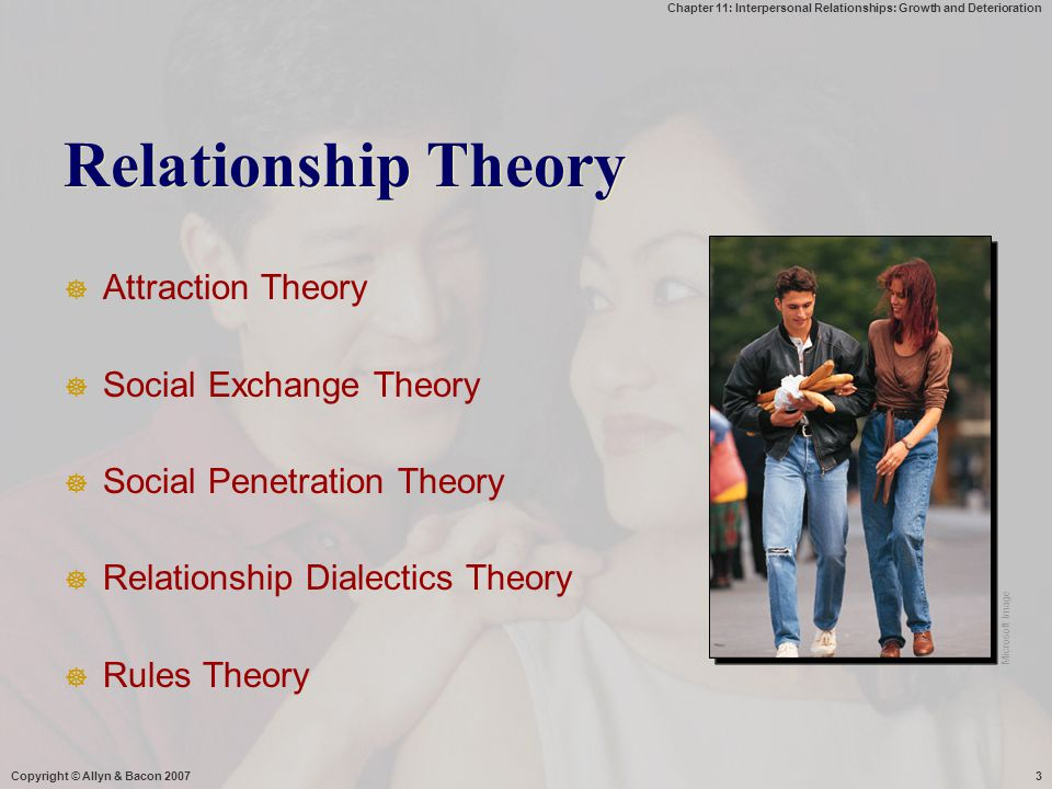 Relationship Theory Attraction Theory Social Exchange Theory