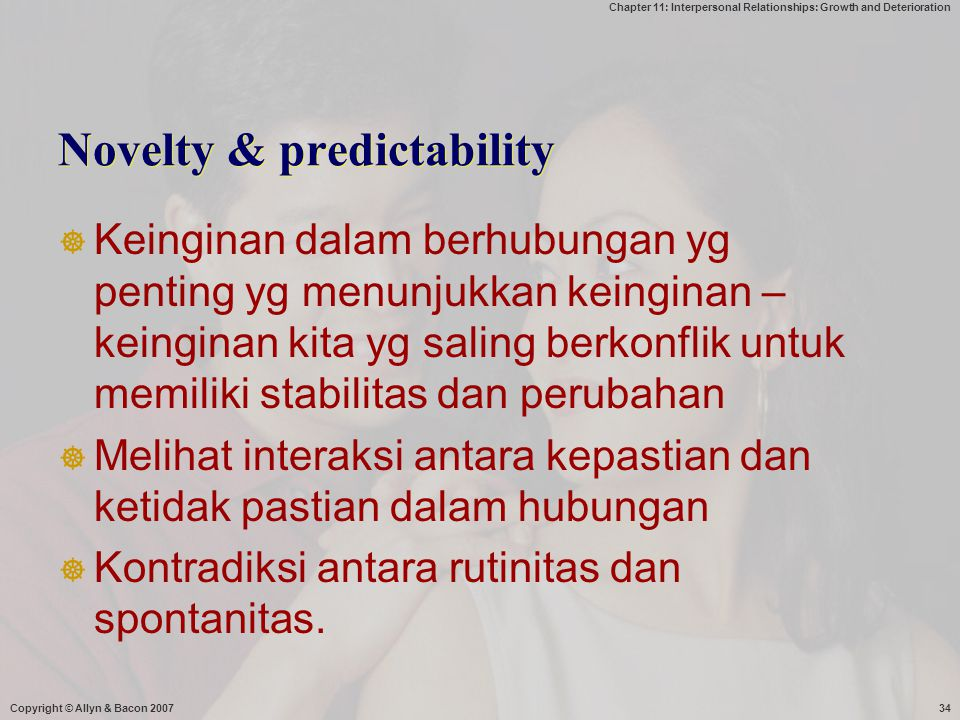 Novelty & predictability