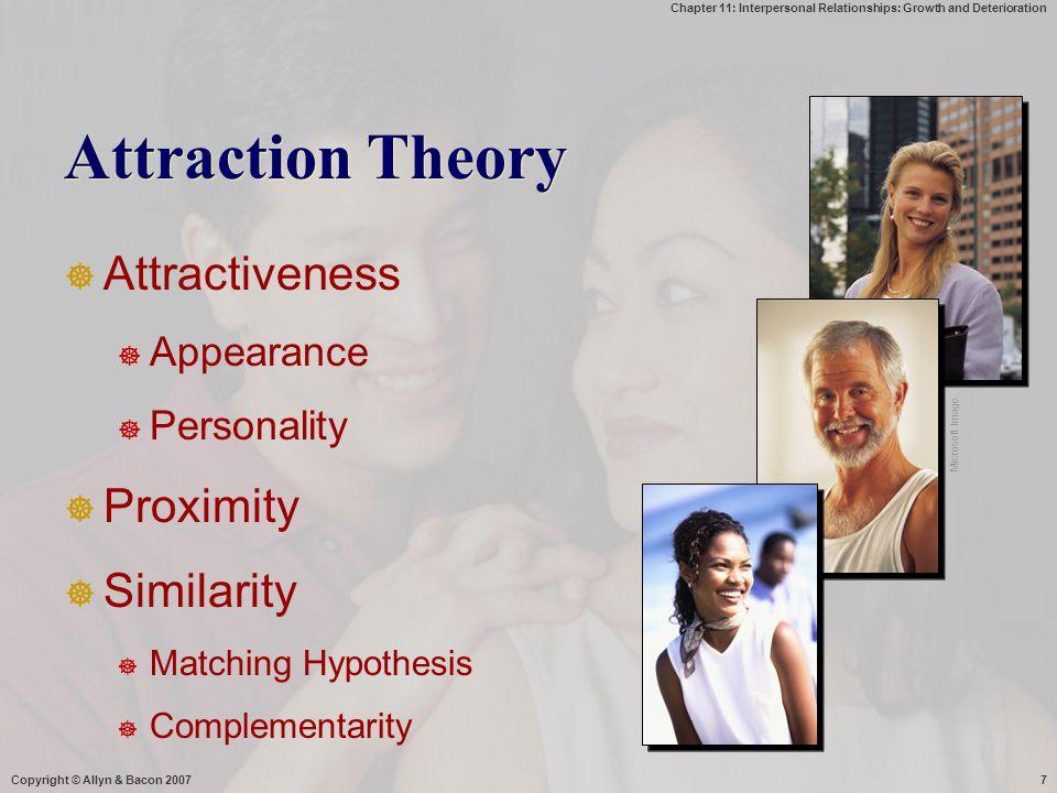 Attraction Theory Attractiveness Proximity Similarity Appearance