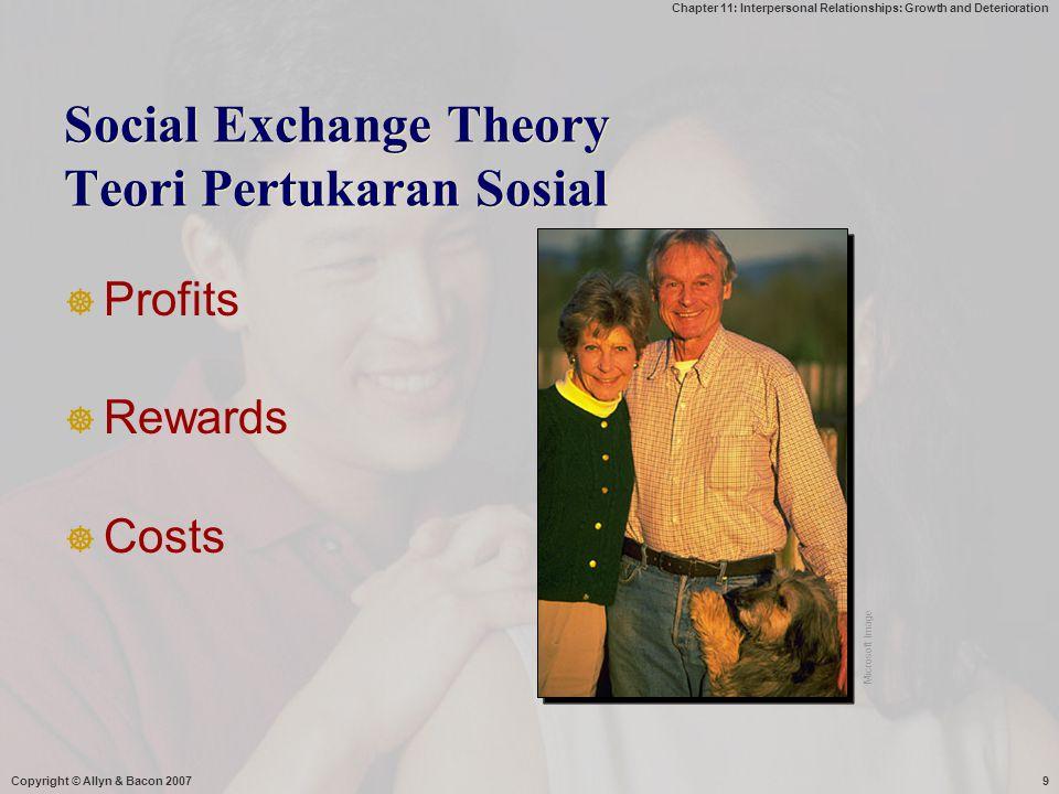 Social Exchange Theory Teori Pertukaran Sosial