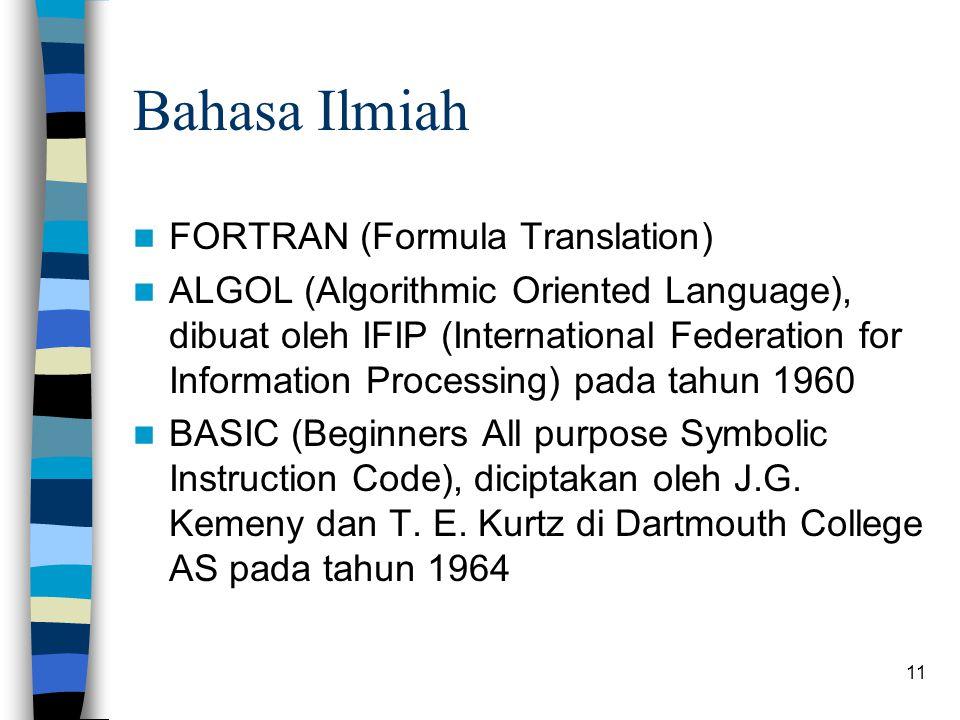 Bahasa Ilmiah FORTRAN (Formula Translation)