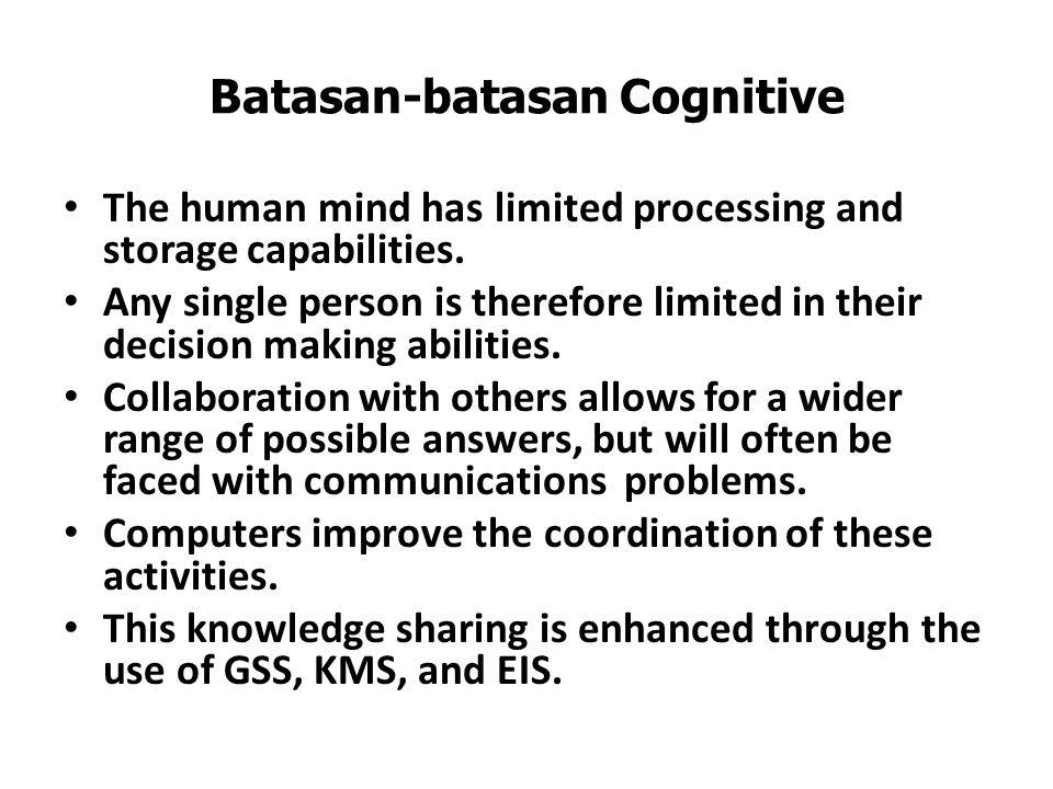 Batasan-batasan Cognitive