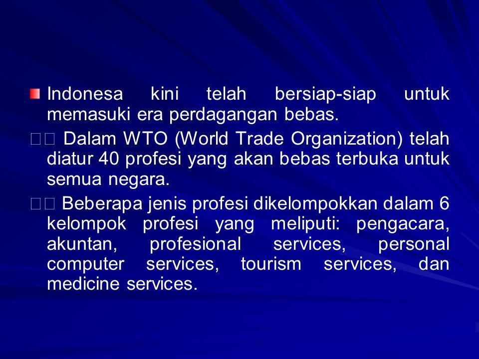 Indonesa kini telah bersiap-siap untuk memasuki era perdagangan bebas.