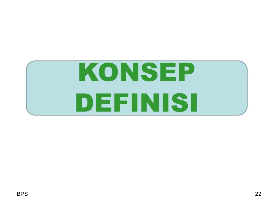 KONSEP DEFINISI BPS