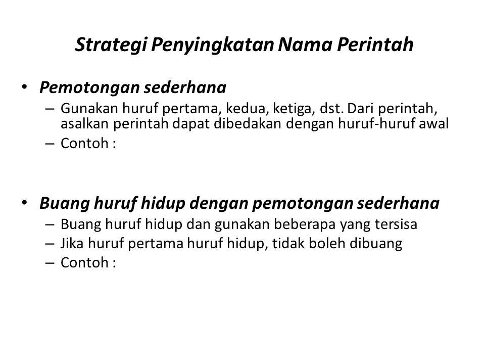Strategi Penyingkatan Nama Perintah