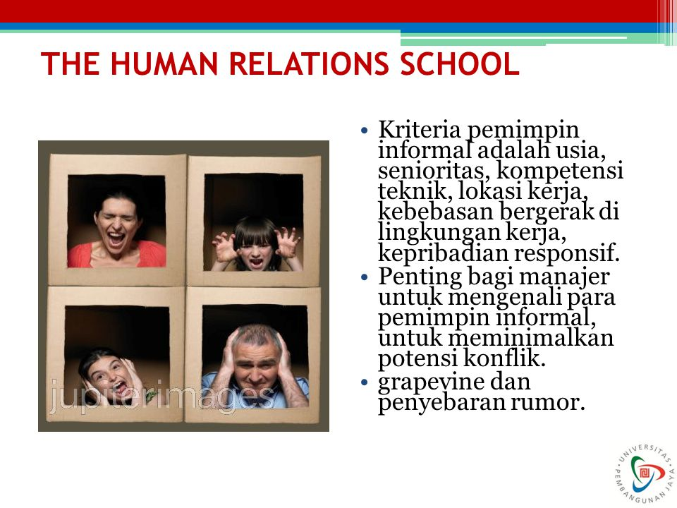 THE HUMAN RELATIONS SCHOOL