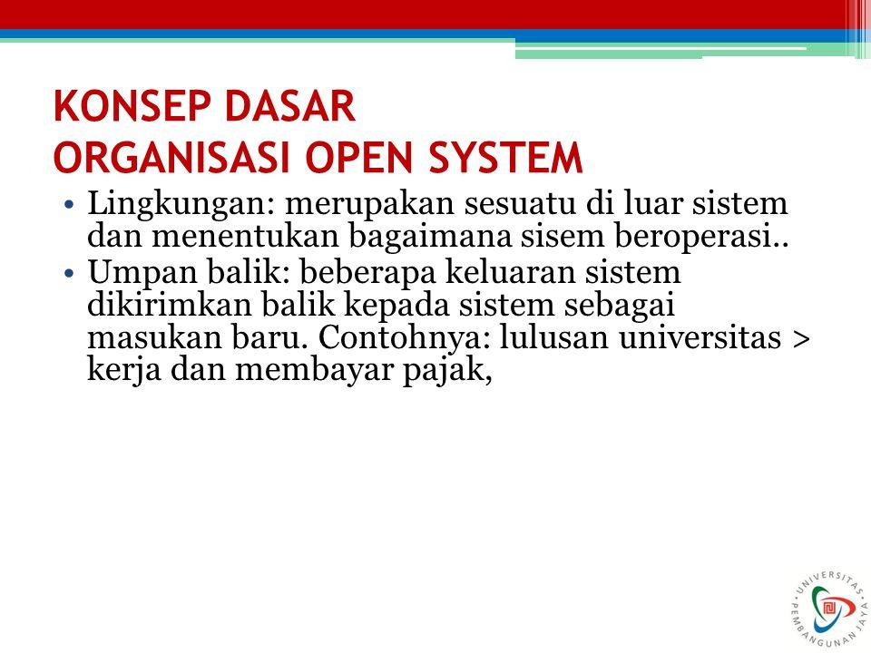KONSEP DASAR ORGANISASI OPEN SYSTEM