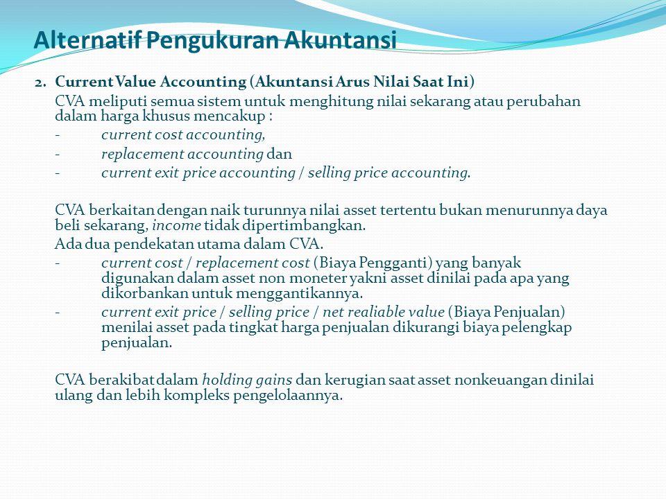 Alternatif Pengukuran Akuntansi