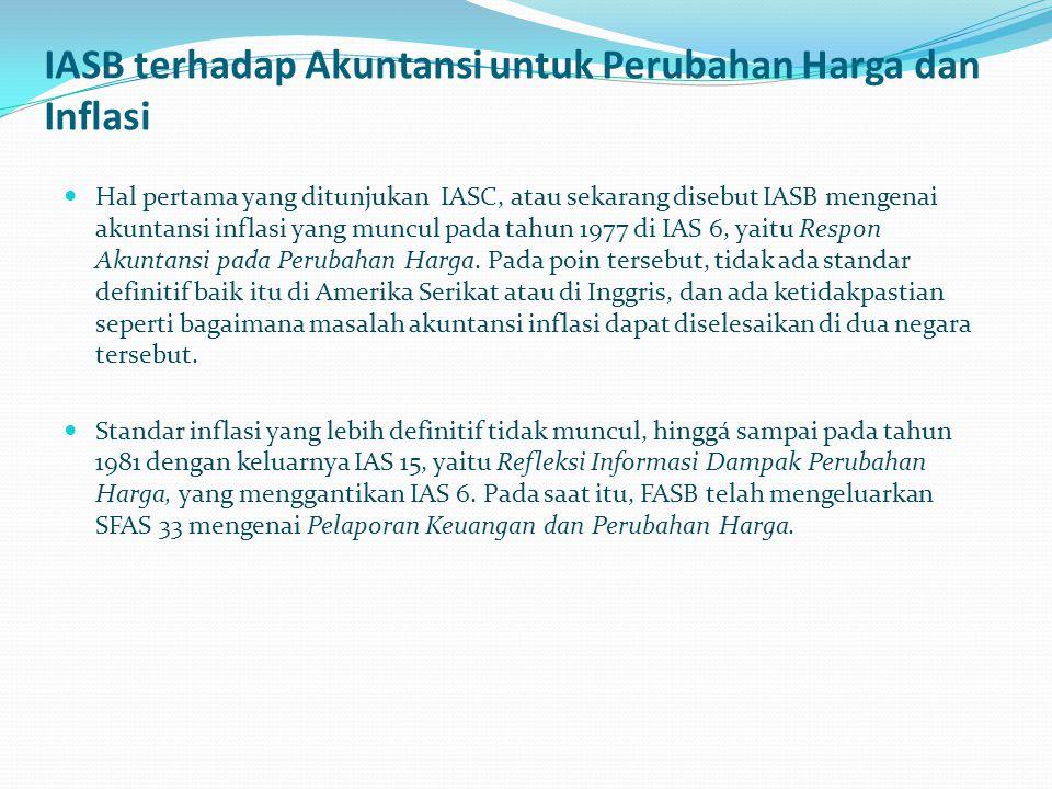 IASB terhadap Akuntansi untuk Perubahan Harga dan Inflasi