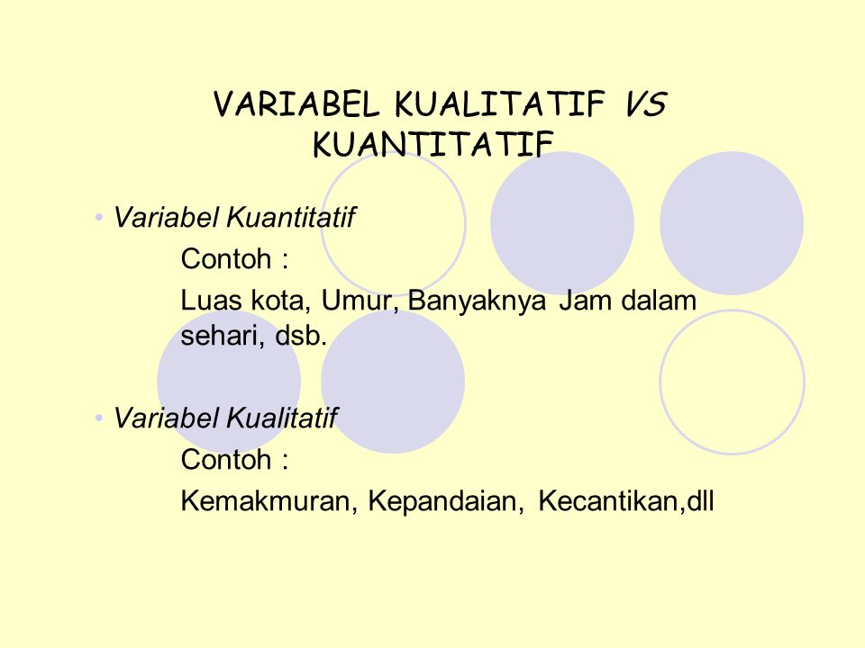 VARIABEL KUALITATIF VS KUANTITATIF