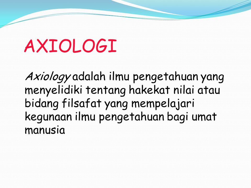 AXIOLOGI
