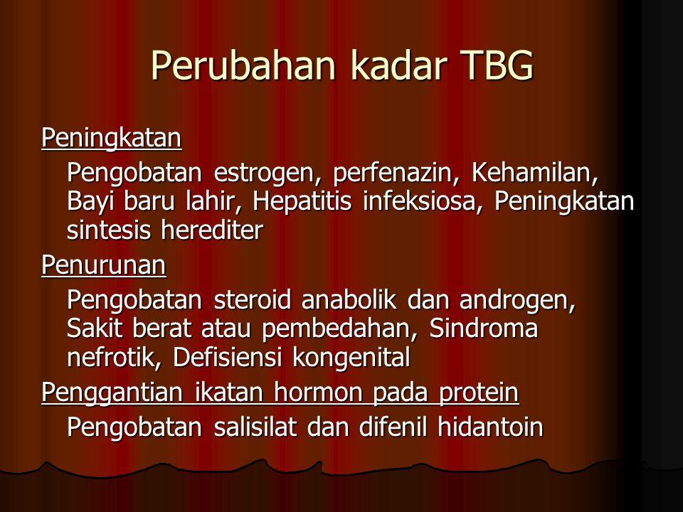 Perubahan kadar TBG Peningkatan