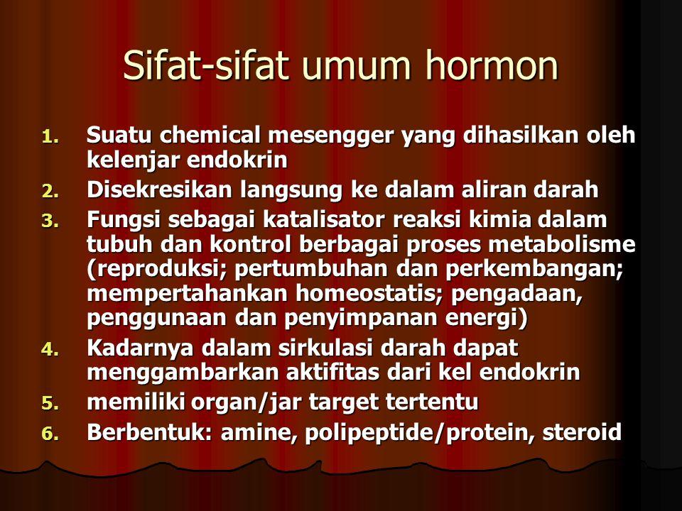Sifat-sifat umum hormon