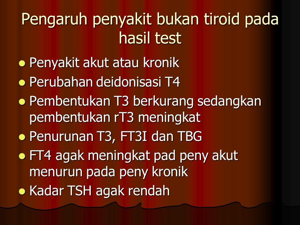 Pengaruh penyakit bukan tiroid pada hasil test
