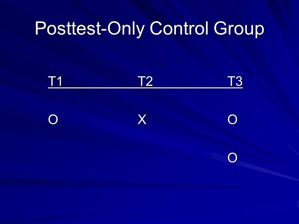 Posttest-Only Control Group
