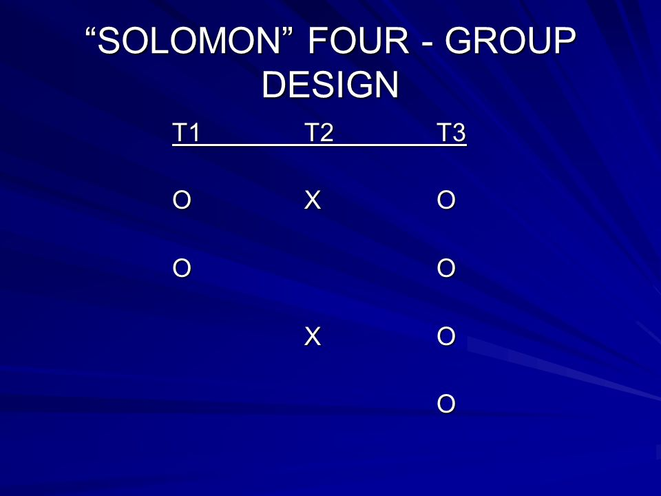SOLOMON FOUR - GROUP DESIGN