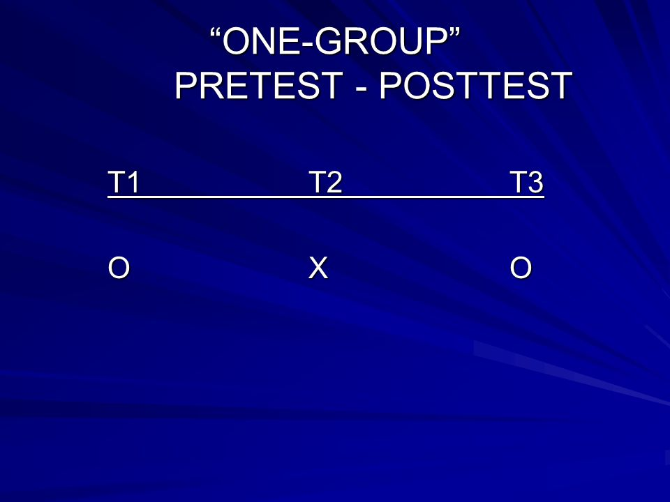ONE-GROUP PRETEST - POSTTEST