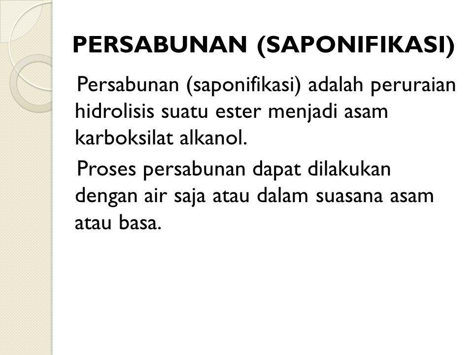 PERSABUNAN (SAPONIFIKASI)