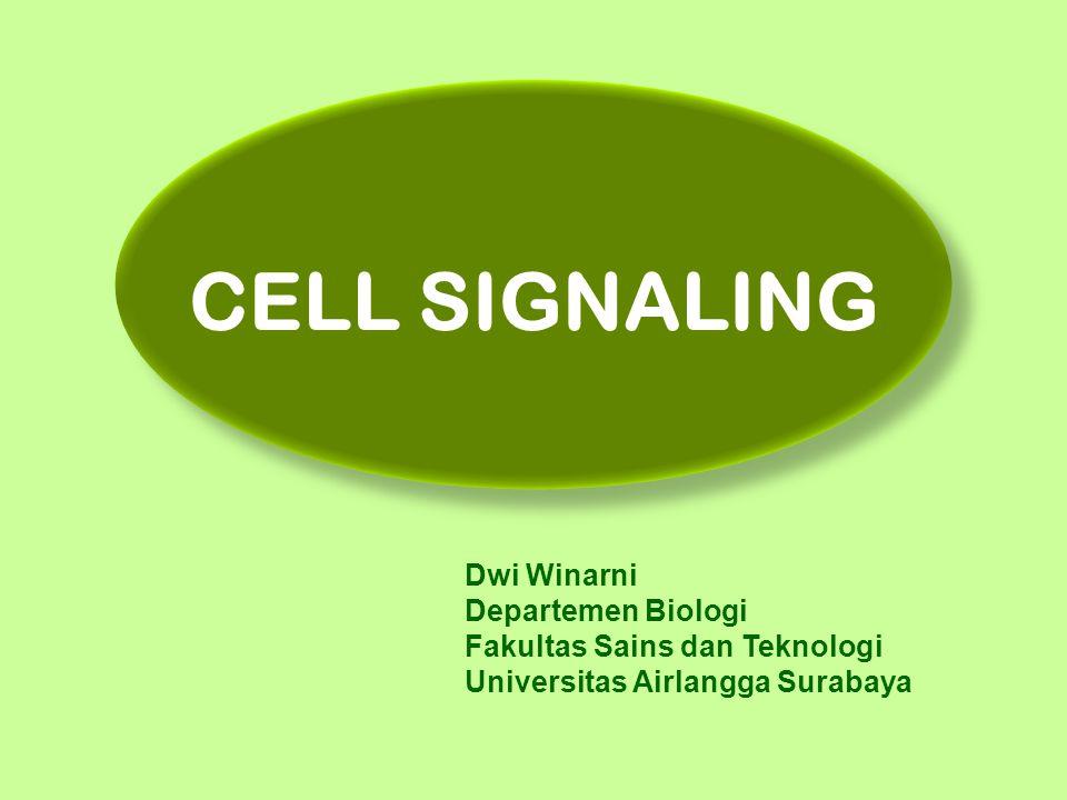 CELL SIGNALING Dwi Winarni Departemen Biologi