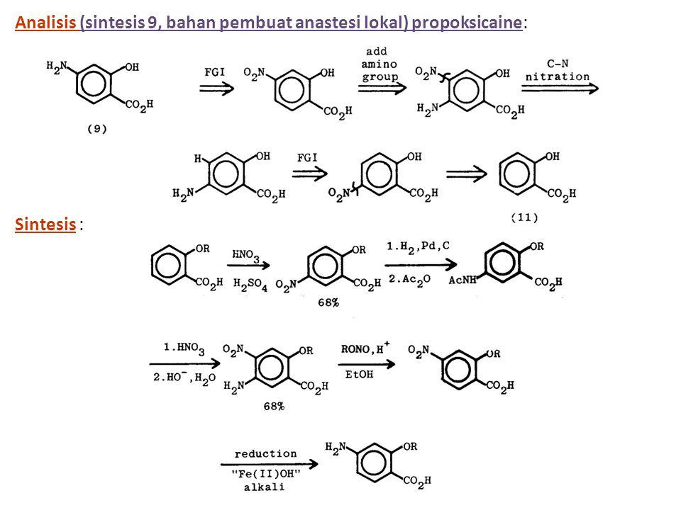 Analisis (sintesis 9, bahan pembuat anastesi lokal) propoksicaine: