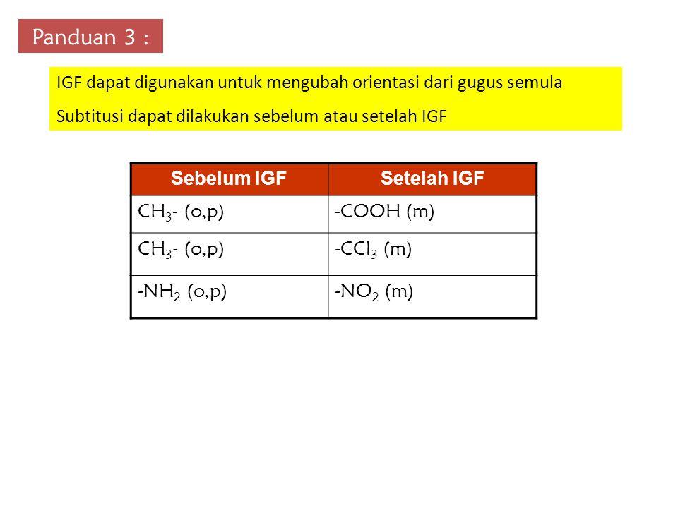 Panduan 3 : IGF dapat digunakan untuk mengubah orientasi dari gugus semula. Subtitusi dapat dilakukan sebelum atau setelah IGF.