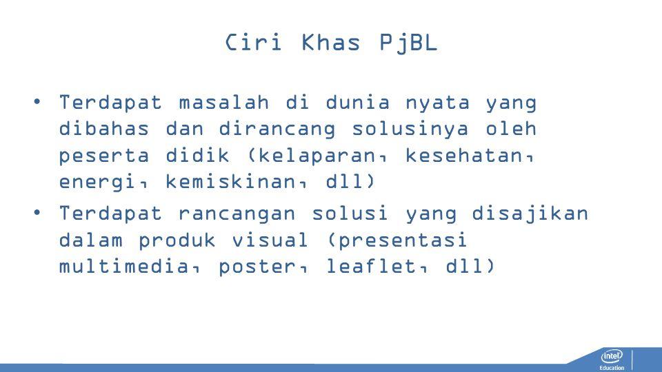 Ciri Khas PjBL