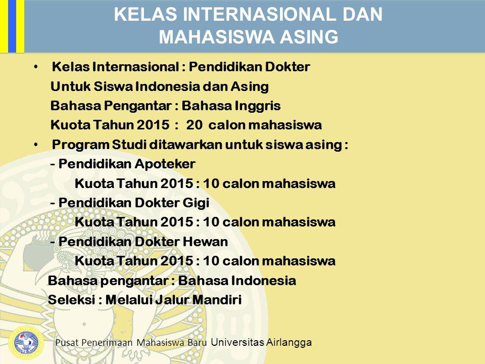 KELAS INTERNASIONAL DAN MAHASISWA ASING