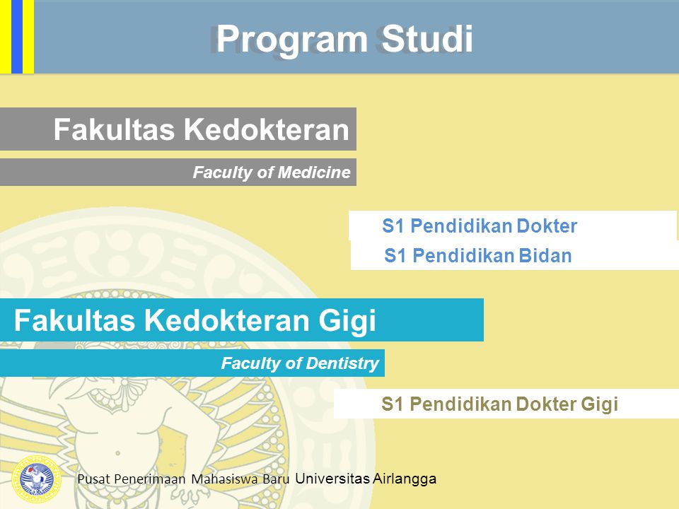 Program Studi Fakultas Kedokteran Fakultas Kedokteran Gigi
