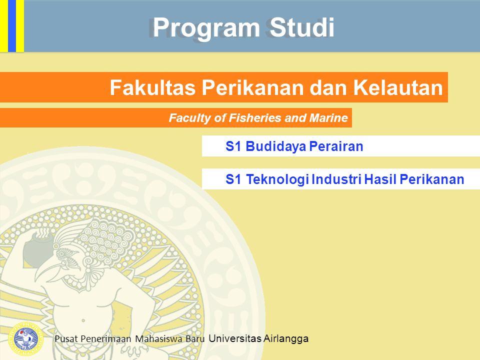 Program Studi Fakultas Perikanan dan Kelautan S1 Budidaya Perairan