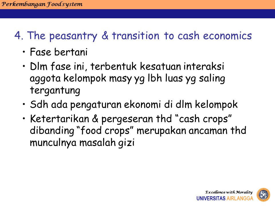 4. The peasantry & transition to cash economics