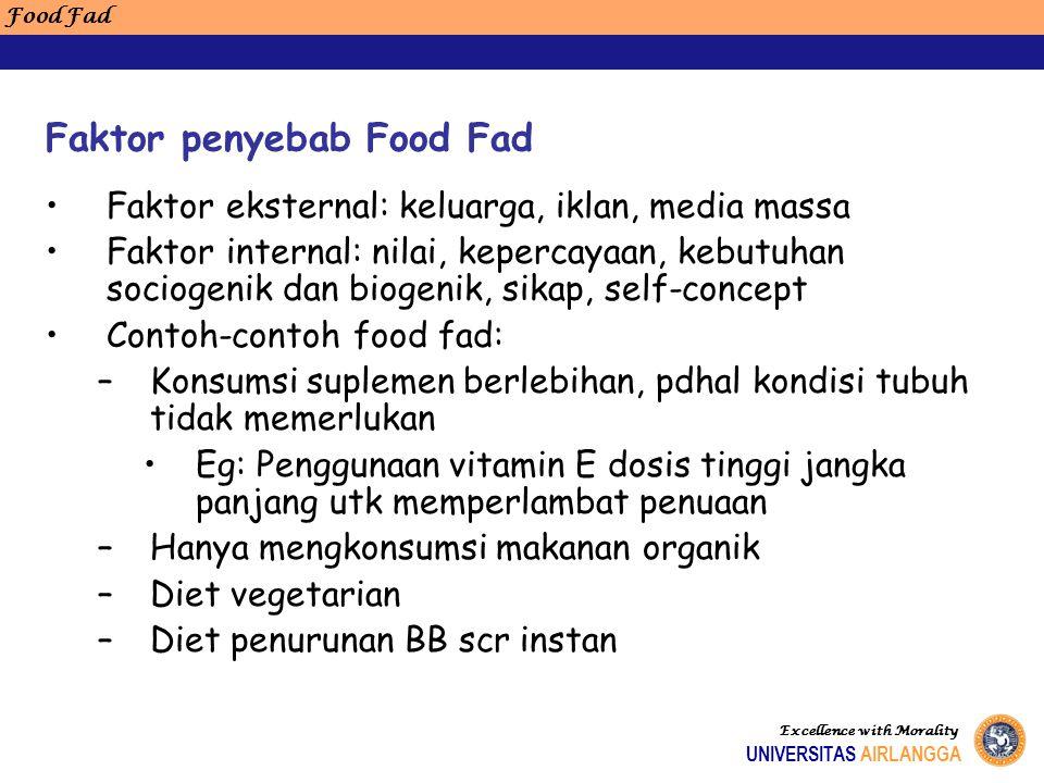 Faktor penyebab Food Fad