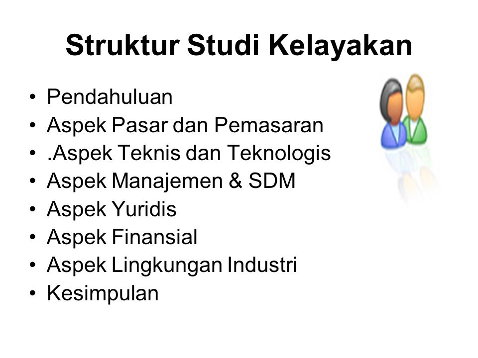 Struktur Studi Kelayakan