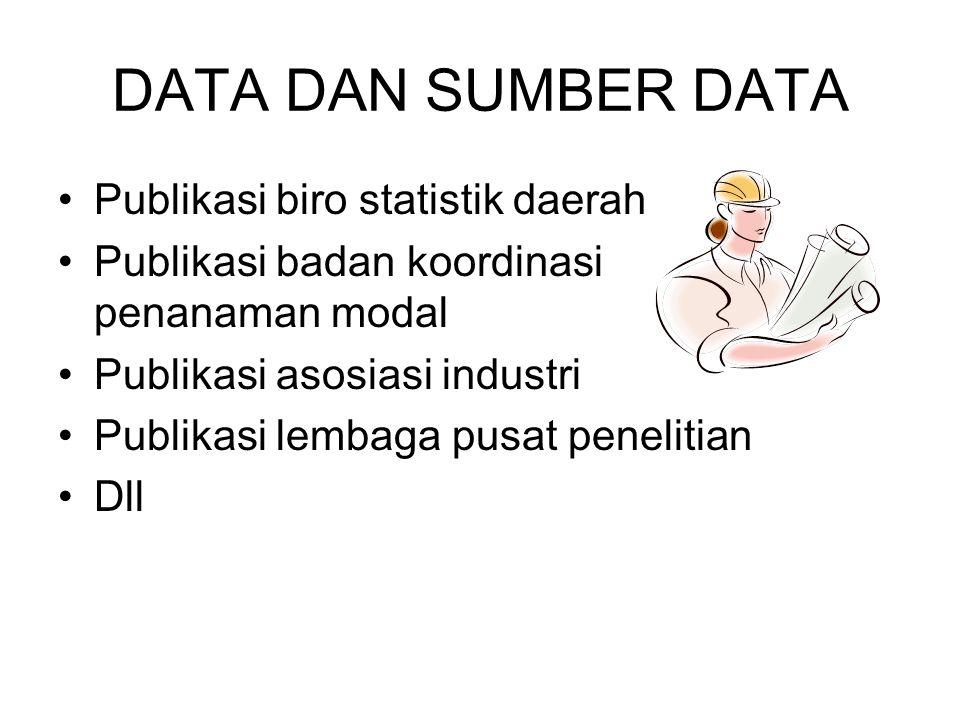 DATA DAN SUMBER DATA Publikasi biro statistik daerah