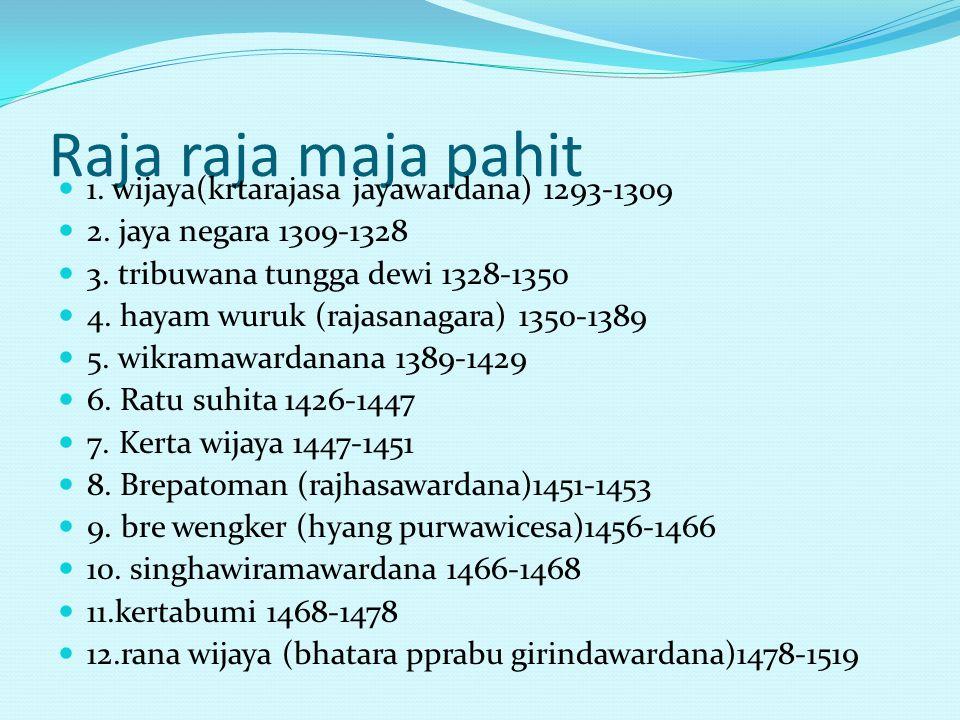 Raja raja maja pahit 1. wijaya(krtarajasa jayawardana) 1293-1309