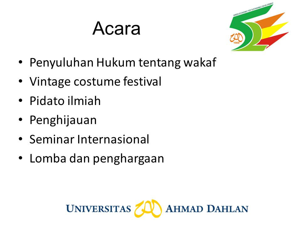 Acara Penyuluhan Hukum tentang wakaf Vintage costume festival