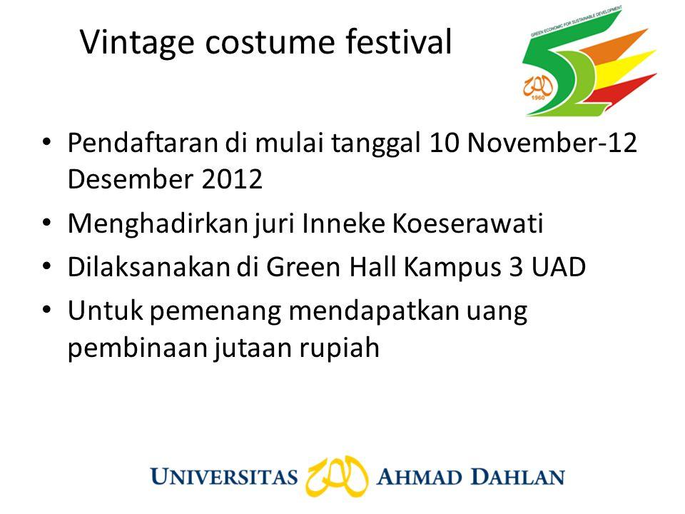 Vintage costume festival